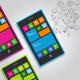 Intelligenter Telefonfunktionsikonen-Konzeptvektor Lizenzfreie Stockbilder