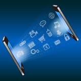 Intelligenter TelefonKommunikationstechnologiehintergrund Lizenzfreies Stockbild