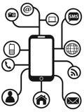 Intelligenter Telefonkonzepthintergrund Lizenzfreie Stockfotografie