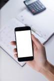 Intelligenter Telefonkopienraum lizenzfreie stockfotografie