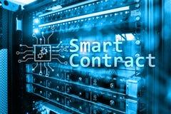 Intelligenter Vertrag, blockchain Technologie im modernen Geschäft Stockfotos