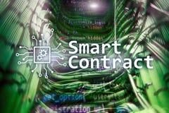 Intelligenter Vertrag, blockchain Technologie im modernen Geschäft Stockfoto