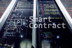 Intelligenter Vertrag, blockchain Technologie im modernen Geschäft Lizenzfreie Stockbilder