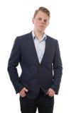 Intelligenter zufälliger junger Mann Stockfotos