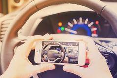 Intelligentes Auto-Konzept Stockfotografie