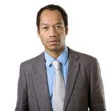 Intelligentes beiläufiges männliches Portrait auf Weiß Lizenzfreie Stockbilder