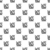 Intelligentes Dachhausmuster nahtlos vektor abbildung