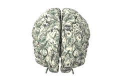 Intelligentes Gehirn kann mehr Geld erwerben Vektor Abbildung