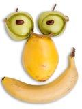 Intelligentes Gesicht gebildet von der Frucht Stockbild