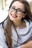 Intelligentes Mädchenporträt Stockfotos