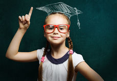 Intelligentes Schulmädchen Stockbild
