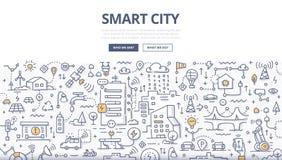 Intelligentes Stadt-Gekritzel-Konzept lizenzfreie abbildung