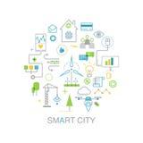 Intelligentes Stadtvektorkonzept Lizenzfreie Stockbilder