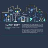 Intelligentes Stadtvektorkonzept Stockbilder