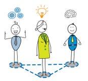 Intelligentes Team mit Frauenführer Vektor Abbildung