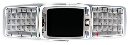 Intelligentes Telefon über Ansicht Stockbild