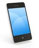 Intelligentes Telefon auf Weiß Stockfotografie