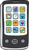 Intelligentes Telefon mit Anwendungen Lizenzfreies Stockfoto
