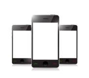 Intelligentes Telefon mit leerem Bildschirm Stockbild