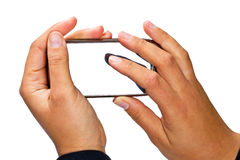 Intelligentes Telefon mit unbelegter Bildschirmanzeige Lizenzfreie Stockbilder