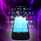 Intelligentes Telefon-Video stock abbildung