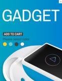 Intelligentes Uhr-Gerät-Erfindungs-Technologie-Konzept Lizenzfreie Stockfotos