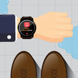 Intelligentes Uhrdesign Stockfoto