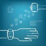 Intelligentes Uhrkonzept lizenzfreie abbildung