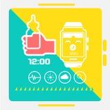 Intelligentes Uhrkonzept Stockbild