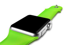 Intelligentes Uhrsilberaluminium Lizenzfreies Stockfoto