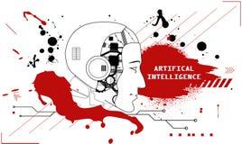 Intelligenza artificiale illustrazione vettoriale