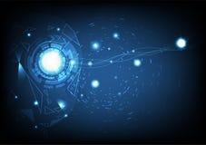Intelligenza artificiale creativa di visione, curva liscia, triangoli illustrazione di stock