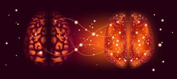 Intelligenza artificiale e concetto cyber di mente illustrazione vettoriale