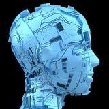 Intelligenza artificiale e robotica Fotografie Stock Libere da Diritti