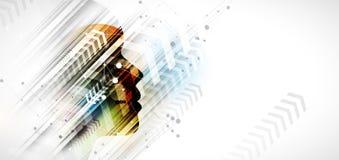 Intelligenza artificiale Fondo di schema della freccia di web di tecnologia Concentrato virtuale royalty illustrazione gratis