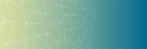 Intelligenza artificiale Fondo di web di tecnologia Concentrato virtuale Immagini Stock