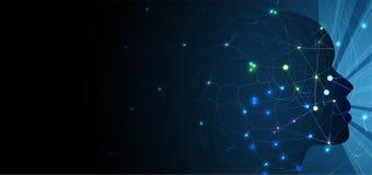 Intelligenza artificiale Fondo di web di tecnologia Concentrato virtuale Fotografie Stock