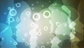 Intelligenza artificiale Fondo di web di tecnologia Concentrato virtuale Fotografia Stock