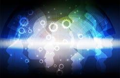 Intelligenza artificiale Fondo di web di tecnologia Concentrato virtuale Immagini Stock Libere da Diritti