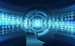 Intelligenza artificiale Tecnologia digitale di AI in futuro Concetto virtuale Priorità bassa dell'illustrazione di vettore royalty illustrazione gratis