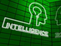 Intelligenza Brain Representing Intellectual Capacity 3d Illustr Fotografie Stock Libere da Diritti