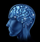 Intelligenza di attività di cervello Immagini Stock Libere da Diritti