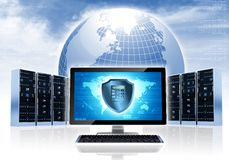 Intenet Sicherheits-Netz Stockbilder