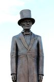 Intensamente a vida gosta da estátua de Abraham Lincoln foto de stock royalty free