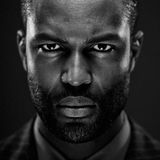 Intense African American Studio Portrait Stock Image