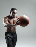 Intense basketball player Stock Images