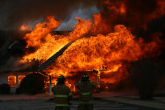 An Intense Blaze, Dramatic House Fire Stock Image