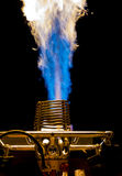Intense Blue Flame Royalty Free Stock Images