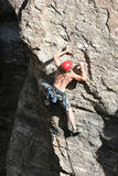 Intense Climber Royalty Free Stock Photos