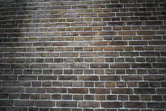 Intense color brick wall. Brick wall arrange in long and short brick switch each other Stock Photo